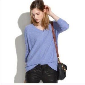 Madewell blue sweater small EUC wool blend